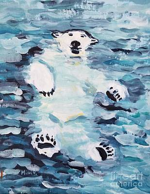 Poster featuring the painting Polar Bear by Maria Langgle