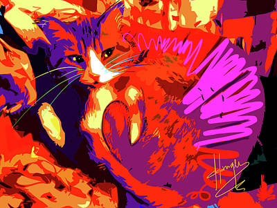 Pop Cat Tiger Poster