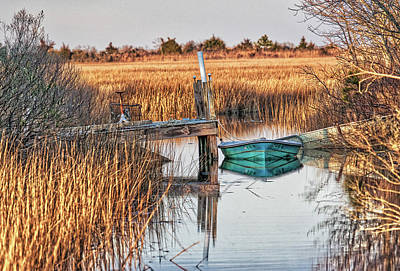 Poquoson Marsh Boat Poster