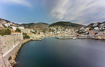 Port At Hydra Island Poster