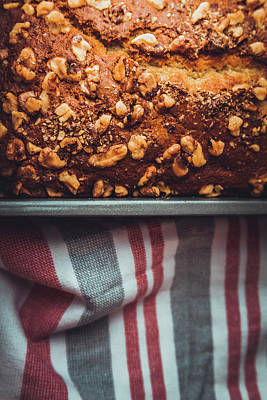 Portion Of Freshly Baked Banana Bread  Poster
