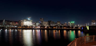 Poster featuring the photograph Portland Oregon Skyline 102118 by Rospotte Photography