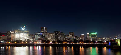 Poster featuring the photograph Portland Oregon Skyline V2 by Rospotte Photography