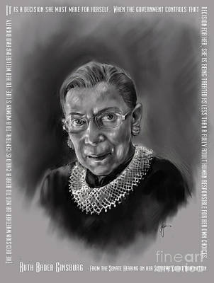 Portrait Of Ruth Bader Ginsburg Poster