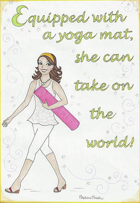 Power Of Yoga Mat Poster