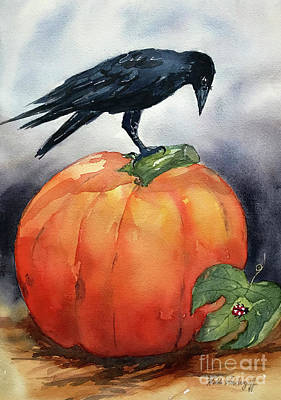Pumpkin And Crow Poster
