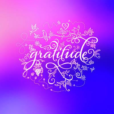 Purply Pink Gratitude Poster
