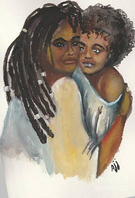 Poster featuring the painting Queen Love by Saundra Johnson