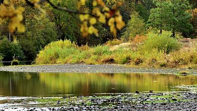 Poster featuring the photograph Quiet Illinois River Autumn by Jerry Sodorff