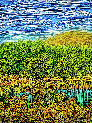Poster featuring the digital art Radiant Peaceful Day by Joel Bruce Wallach