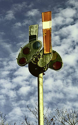 Poster featuring the photograph Railroad Semaphore Signal 10 Color 2 by Joseph C Hinson Photography