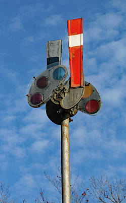 Poster featuring the photograph Railroad Semaphore Signal 10 Color by Joseph C Hinson Photography