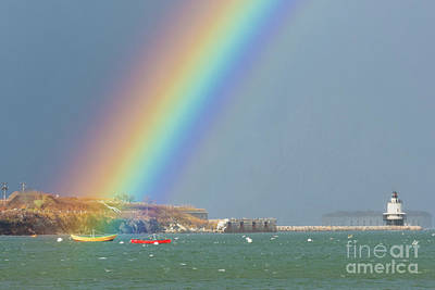 Rainbow At Spring Point Ledge Poster