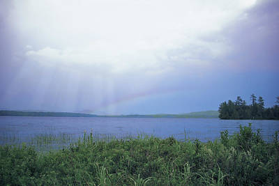 Rainbow Over Raquette Lake Poster