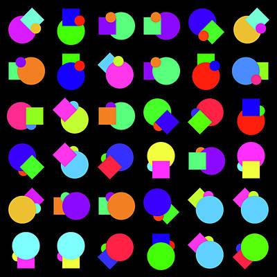 Random Circle And Square - Phi Poster