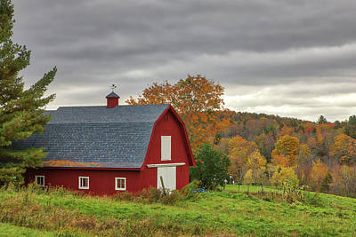 Poster featuring the photograph Red Barn by Juergen Roth