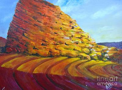 Poster featuring the painting Red Rocks by Saundra Johnson