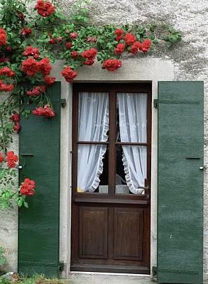 Red Rose Door Poster