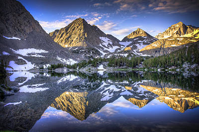 Reflection Of Mountain In Lake Poster
