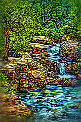 Poster featuring the digital art Rhythm Of The Waterfalls by Joel Bruce Wallach