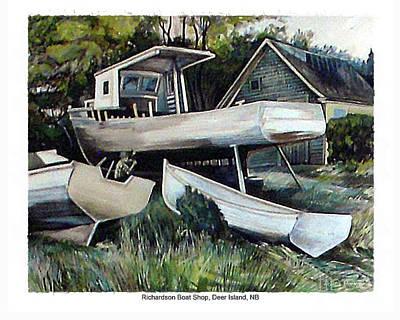Richardson Boat Shop Poster