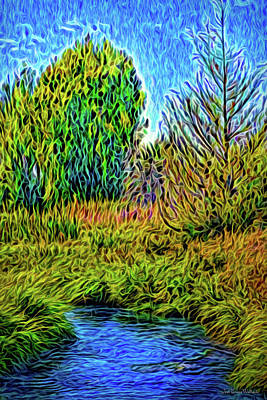 Poster featuring the digital art River Aura Melody by Joel Bruce Wallach