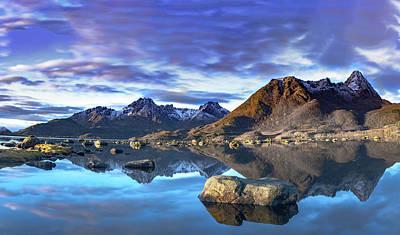 Rock Reflection Landscape Poster
