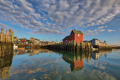 Poster featuring the photograph Rockport On Cape Ann Massachusetts by Juergen Roth
