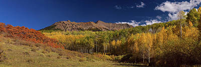 Poster featuring the photograph Rocky Mountain Autumn Panorama View by James BO Insogna