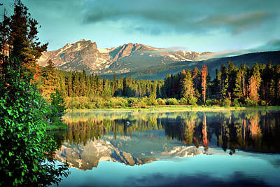 Poster featuring the photograph Rocky Mountain Morning - Estes Park Colorado by Gregory Ballos