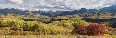 Poster featuring the photograph Rocky Mountain Valley Of Color Panoramic View by James BO Insogna
