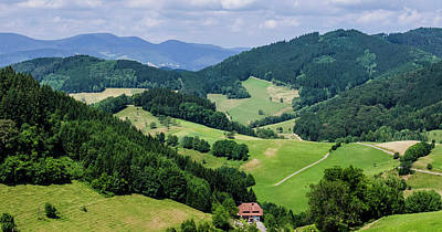 Rolling Hills Of The Black Forest Poster