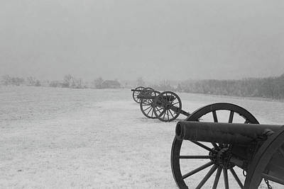 Row Of Cannon Poster