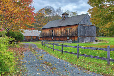 Poster featuring the photograph Rustic Barn by Juergen Roth