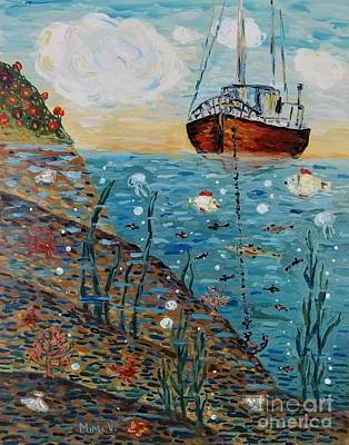 Poster featuring the painting Safe Harbor by Maria Langgle