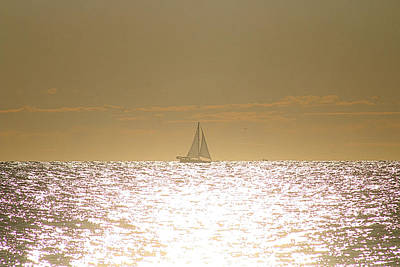 Poster featuring the photograph Sailing On Sunshine by Robert Banach