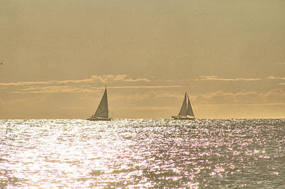 Poster featuring the photograph Sailing On The Horizon by Robert Banach
