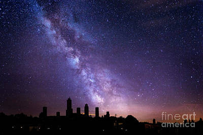 Poster featuring the photograph San Gimignano Stars by Scott Kemper
