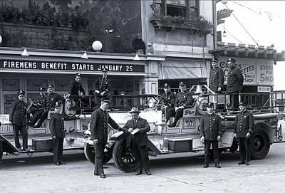 Santa Monica Firemen 1920 Poster