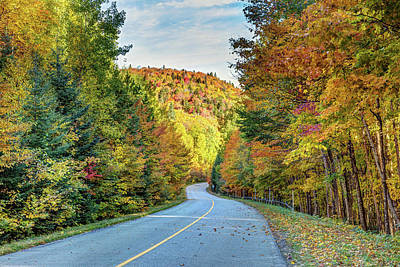 Poster featuring the photograph Scenic Drive In Autumn by Pierre Leclerc Photography