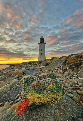Poster featuring the photograph Scituate Lighthouse by Juergen Roth