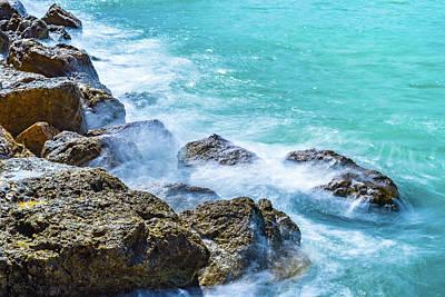 Sea Rocks In Montego Bay Poster