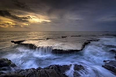 Sea Waterfalls Poster