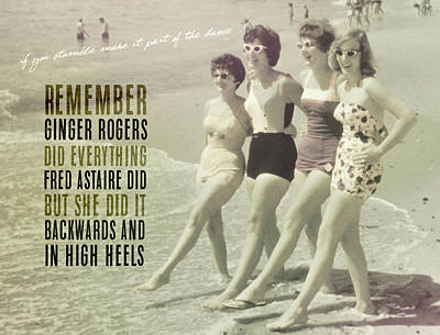 Seaside Rockettes Quote Poster