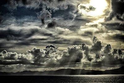 Poster featuring the photograph Silver Sun Over St. Lucia by Bill Swartwout Fine Art Photography
