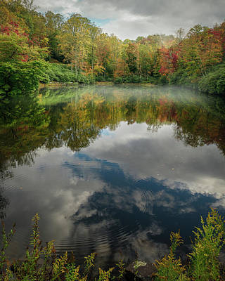 Sims Pond Blowing Rock North Carolina Poster