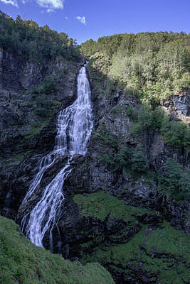 Poster featuring the photograph Sivlefossen, Norway by Andreas Levi