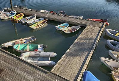 Skiffs In Rockland Harbor Poster