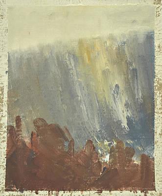 Skogklaedd Fjaellvaegg I Hoestdimma- Mountain Side In Autumn Mist, Saelen _1237, Up To 90x120 Cm Poster