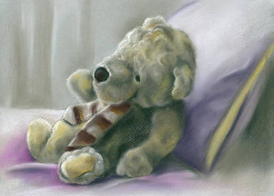 Poster featuring the pastel Someone Waits For Me by MM Anderson